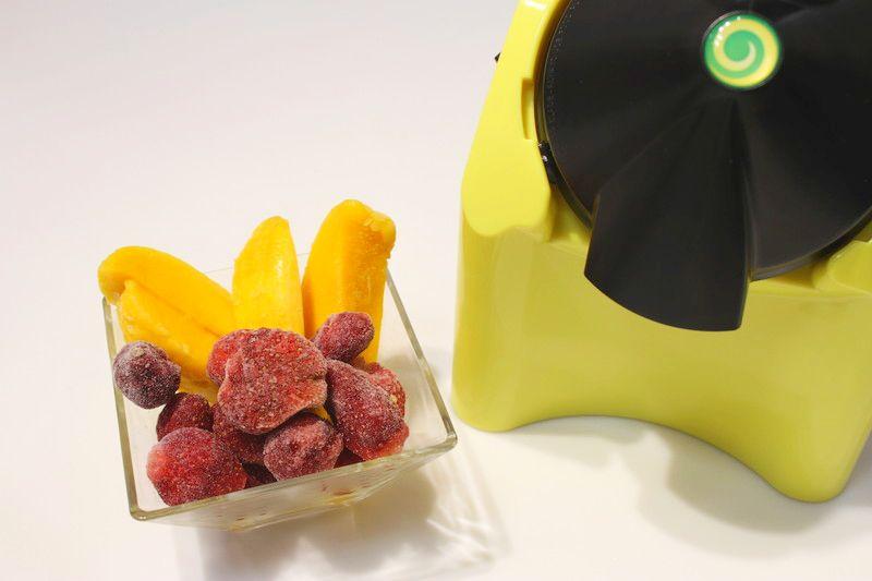 ビィーゴ会員契約者先着100名にプレゼントするアメリカ発のヘルシーデザートマシン「ヨナナス」で使う凍ったフルーツ