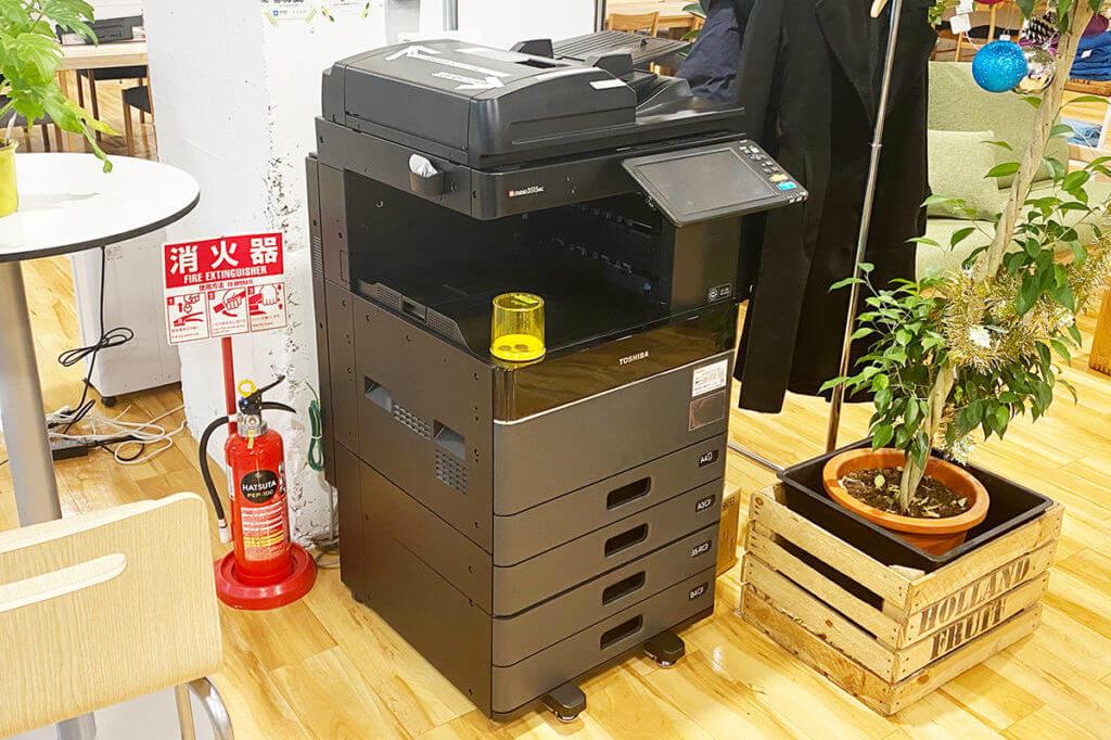 大阪府枚方市のコワーキングスペースビィーゴの複合機