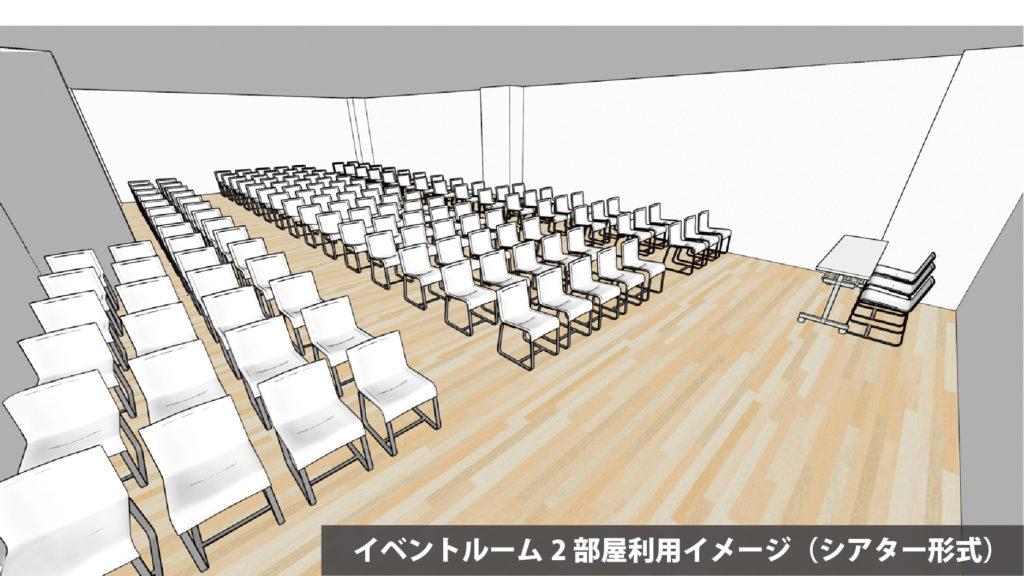大阪府枚方市の貸し会議室・レンタルスペース「ビィーゴ」のイベントルームイメージ