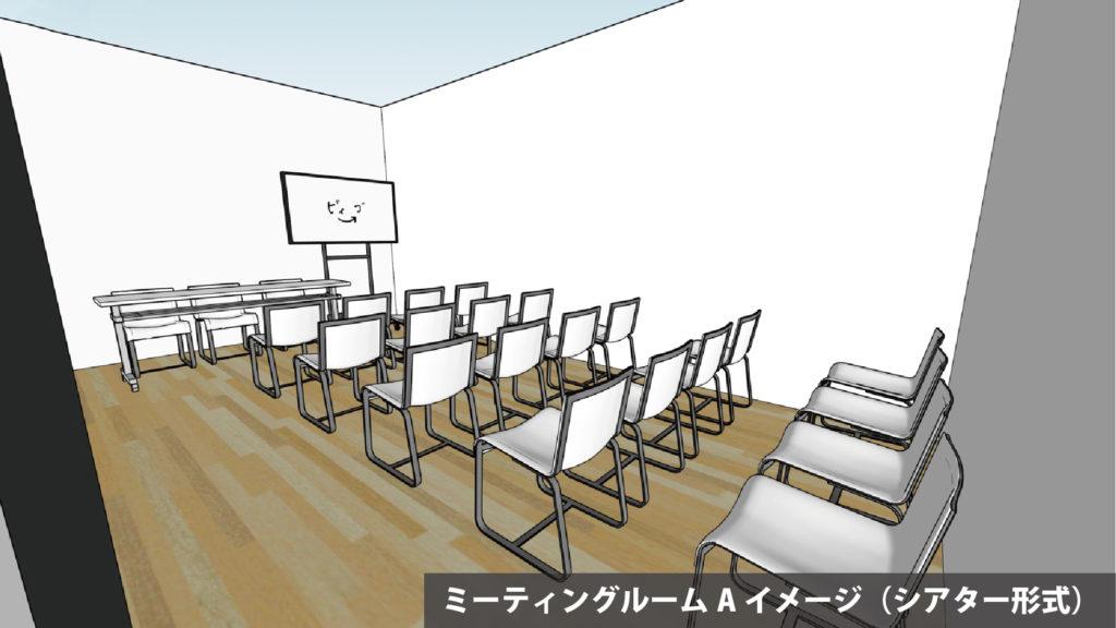 大阪府枚方市の貸し会議室・レンタルスペース「ビィーゴ」のミーティングルームイメージ