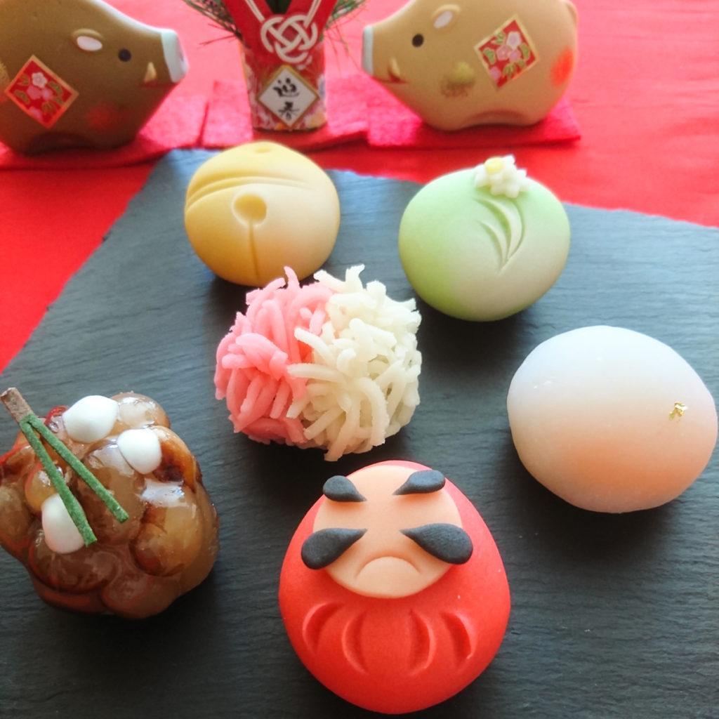 様々な和菓子の写真