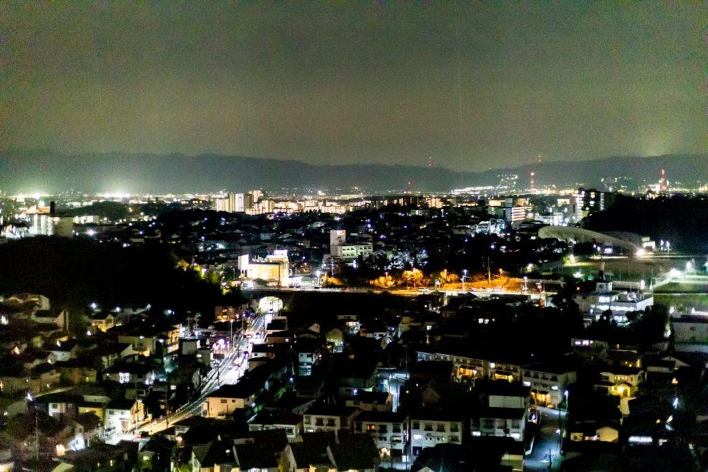 枚方パークから見える夜景